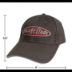 New VINTAGE DUDE baseball cap grey wash hat